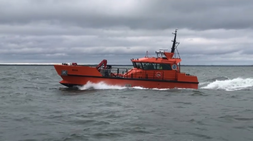 Oil Recovery Vessel Sails