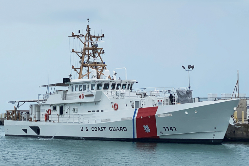 US Coast Guard commissions cutter Charles Moulthrope