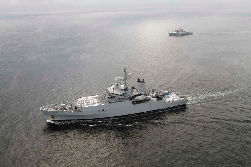 Royal Navy survey ship joins search for unexploded ordnance off Lithuania