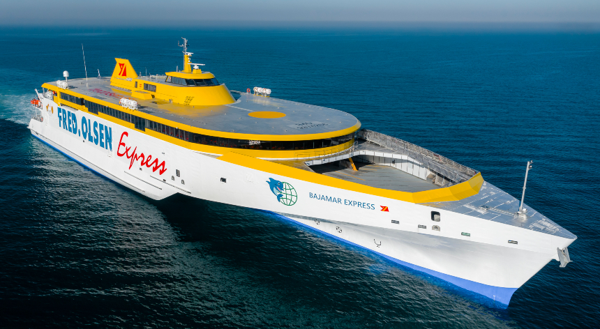 VESSEL REVIEW   Bajamar Express – Fred Olsen Express welcomes fourth Austal fast ferry