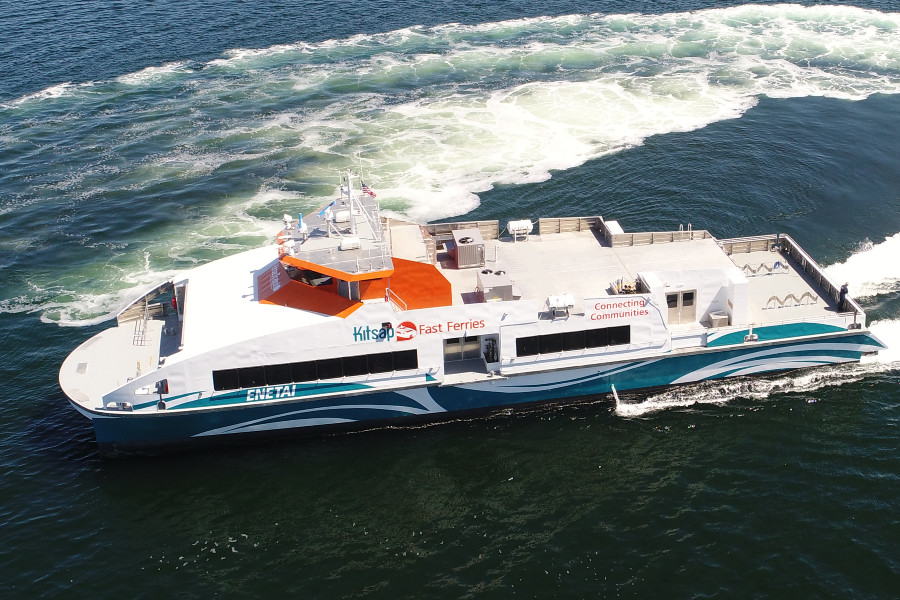 VESSEL REVIEW | Enetai – Fast and stable 255-pax catamaran for Kitsap Transit's Seattle-to-Kingston service