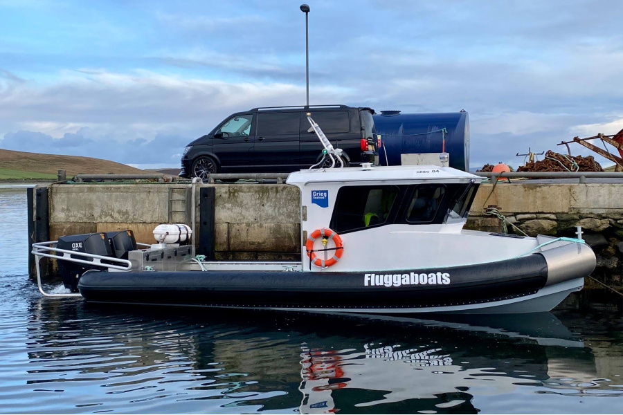 VESSEL REVIEW   Grieg 04 – High-speed, all-weather general service workboat for Grieg Seafood's Shetland salmon farm