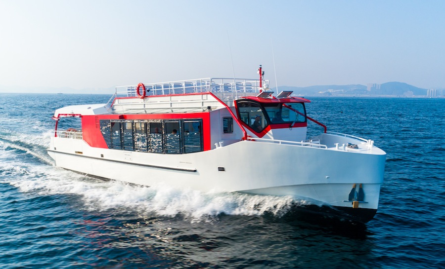 VESSEL REVIEW   Amiral – French Alps lake cruising gets a stylish upgrade with new eco-ferry