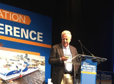 Neil Baird speaking at 44th Interferry conference in London