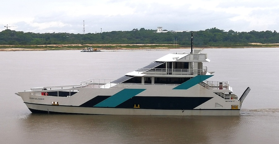VESSEL REVIEW | Ferry Del Chaco – Unusual, shallow-draught Ro-Pax for Paraguay's river network