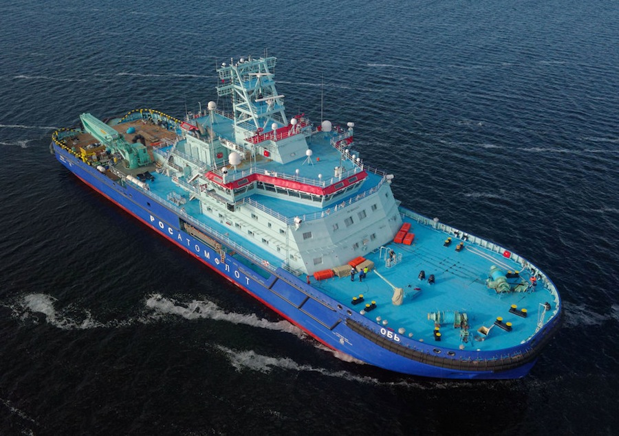 VESSEL REVIEW | Ob – The world's most advanced icebreaker sets sail in Russia