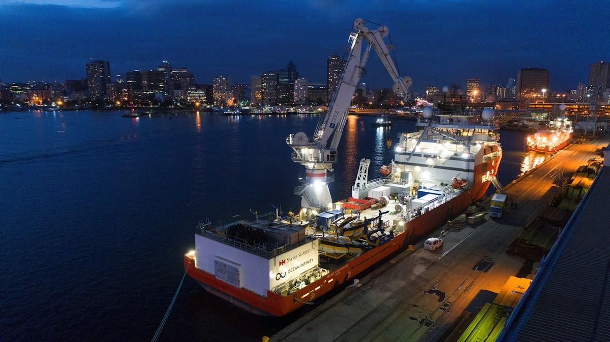 Seabed Constructor under charter to Ocean Infinity