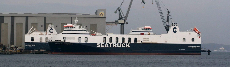 Seastruck Progress, a Ro-Ro built by Flensburger Schiffbau-Gesellschaft
