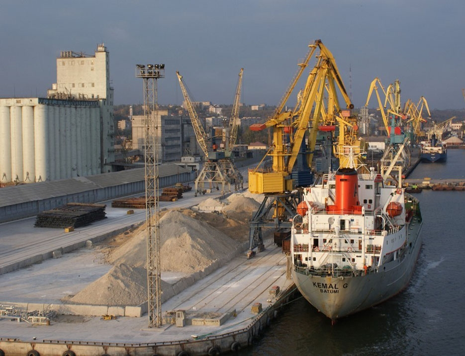 The port of Mariupol.