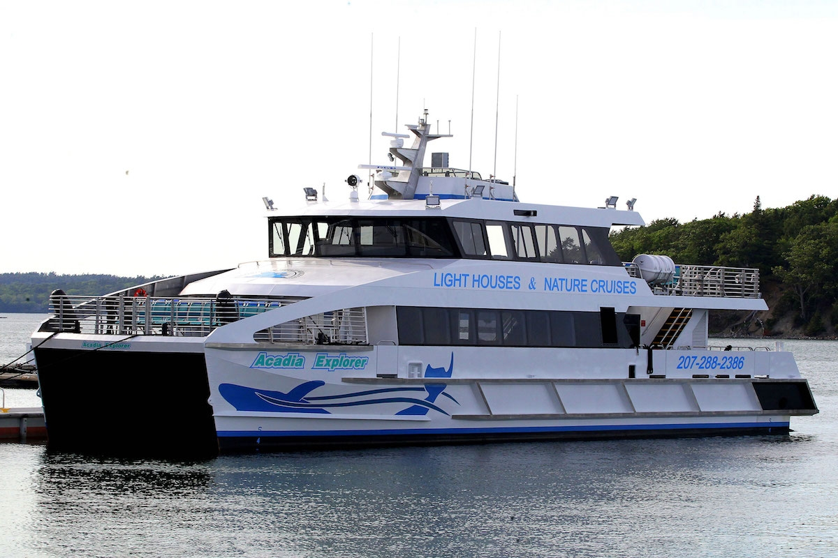 Arcadia Explorer, one of two new high-end ferries Incat Crowther recently delivered.